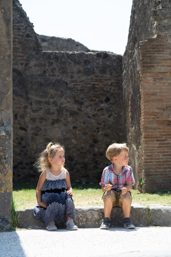 Kids at Pompeii