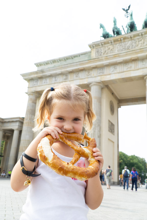 Berlin with kids bretzel