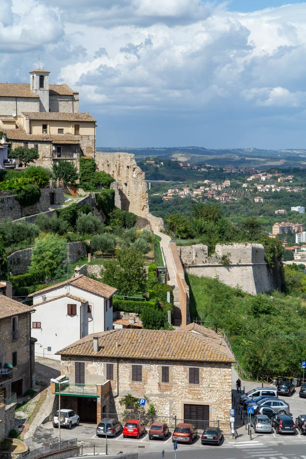 City wall of Narni