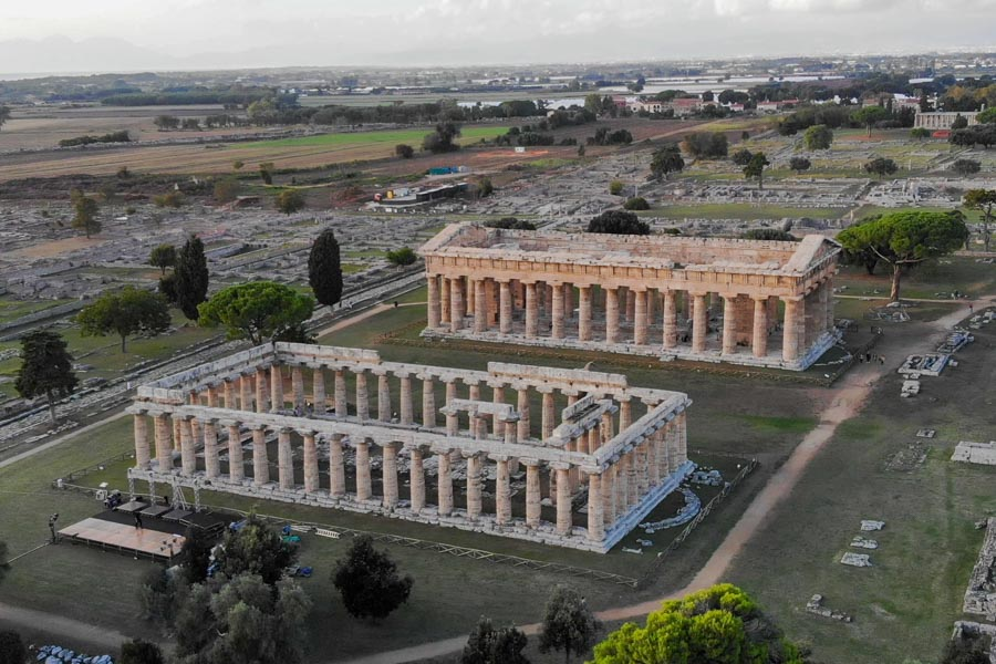 Paestum view of Temples