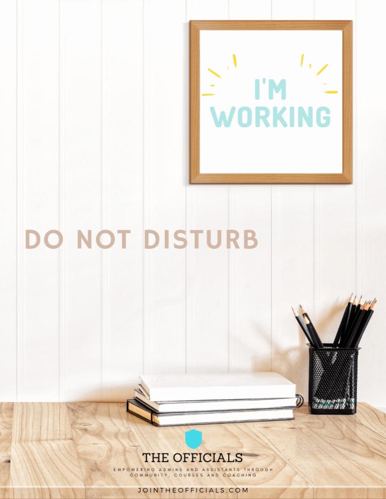 01 Do Not Disturb