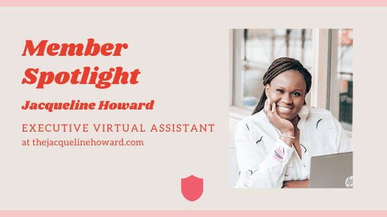 Member Spotlight - Jacqueline Howard