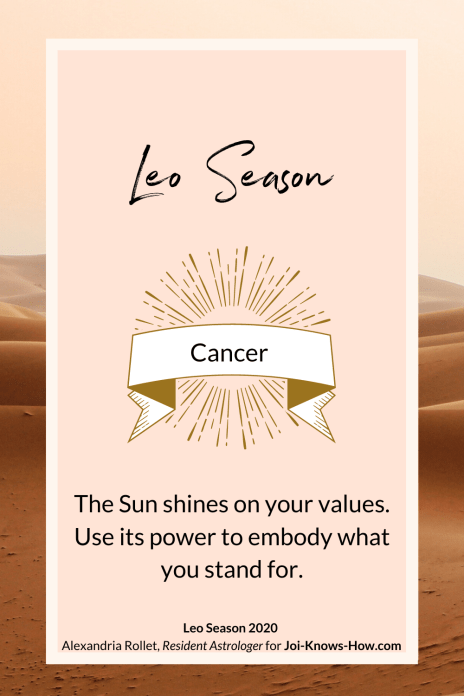 Leo Season | Leo Sign | Cancer| July 2020 Astrological Horoscopes | Affirmations | multi-passionate creatives | Joi Knows How blog