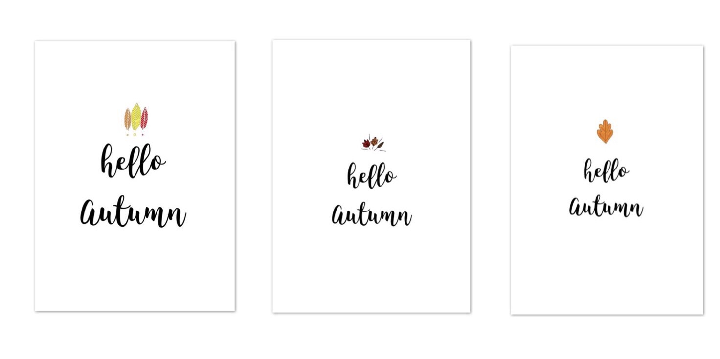 Hello Autumn -Free Printable- für eure Fotos
