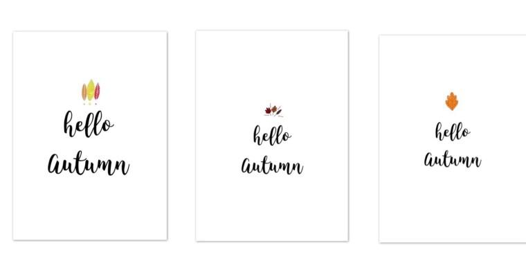 Hello Autumn -Free Printable- für eure Fotos