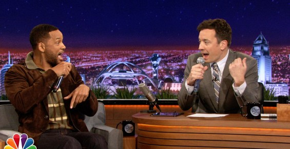 "VIDEO Will Smith En cura rapiando & Jimmy Fallon Beatbox ""It Takes Two"" Using iPad App"