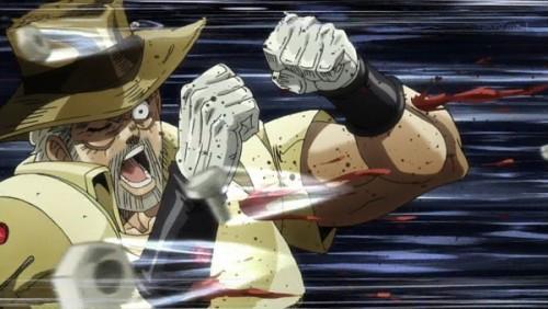 ジョジョ アニメ 第三部 第31話 攻撃を食らうジョセフ