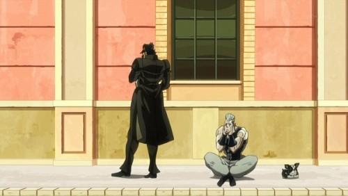 ジョジョ アニメ 第三部 第31話 待ちくたびれる承太郎とポルナレフ