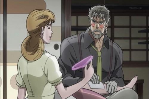 ジョジョ アニメ 第三部 第3話 ホリィ&ジョセフ