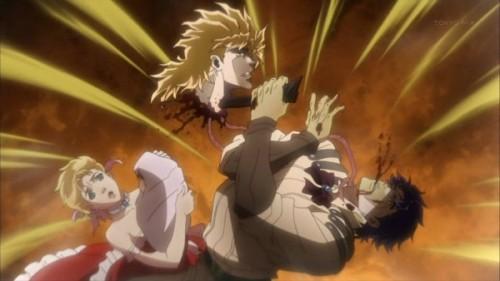 ジョジョ アニメ ジョナサンの体を乗っ取ろうとするディオ