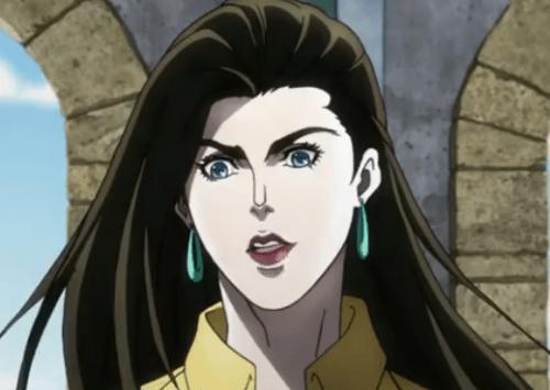 ジョジョ アニメ 16話 ジョジョを褒めるリサリサ