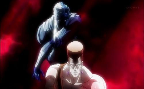 ジョジョ アニメ 第三部 第11話 背後から忍び寄るハングドマン