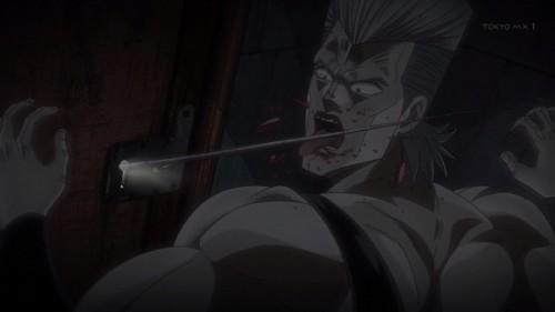 ジョジョ 第三部 第15話 舌を刺されるポルナレフ