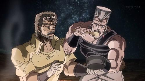 ジョジョ アニメ 第三部 第20話 ベビーフードをがっつくポルナレフ