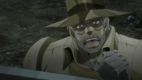 ジョジョ アニメ 第三部 第18話 ジョセフ 「もう終わり?」