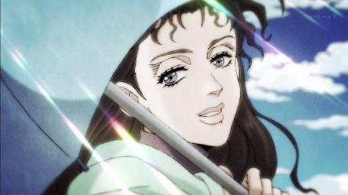 ジョジョ アニメ 第三部 第21話 傘を貰って喜ぶシェリー