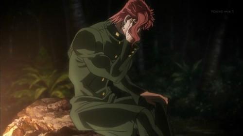 ジョジョ アニメ 第三部 第19話 落ち込む花京院