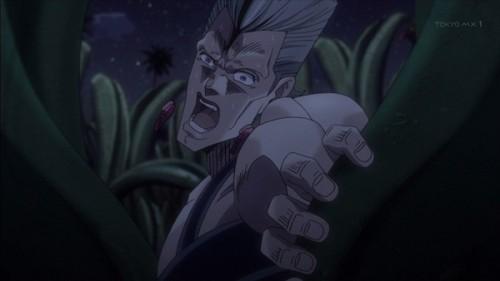 ジョジョ アニメ 第三部 第21話 草むらを掻き分けるポルナレフ