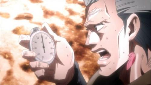ジョジョ アニメ 第三部 第18話 温度計を見るポルナレフ