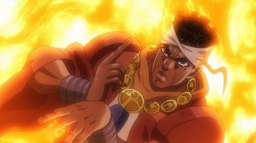 ジョジョ アニメ 第三部 第23話 アヴドゥル 魔術師の赤