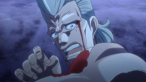 ジョジョ アニメ 第三部 第22話 仲間はずれにされて泣くポルナレフ