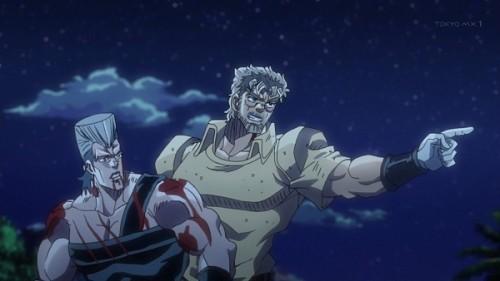 ジョジョ アニメ 第三部 第22話 ポルナレフを慰めるジョセフ