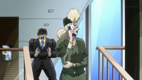 ジョジョ アニメ 第三部 第23話 ジョセフと電話するスージーQ