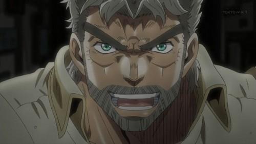 ジョジョ アニメ 第三部 第23話 ジョセフ ドヤ顔