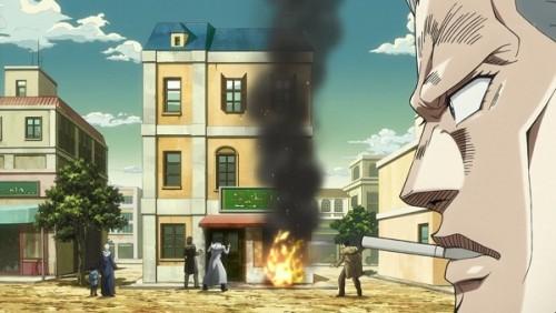 ジョジョ アニメ 第三部 第27話 火事になる向かいの店