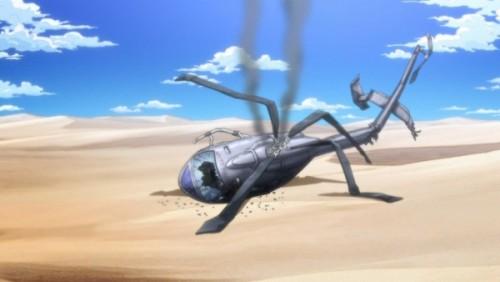 ジョジョ アニメ 第三部 第25話 墜落したヘリ
