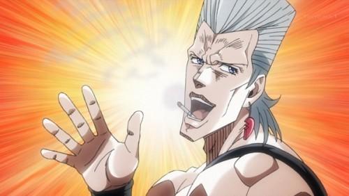 ジョジョ アニメ 第三部 第27話 ポルナレフ 「よしッ!5本くわえてやるやつだぜ承太郎!」