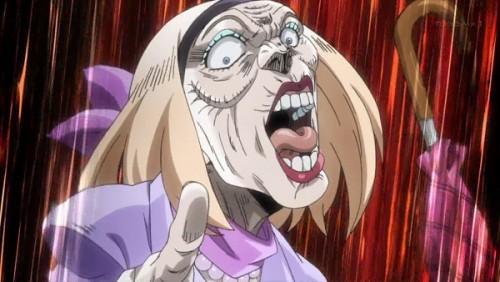 ジョジョ アニメ 第三部 第31話 激怒するBBA