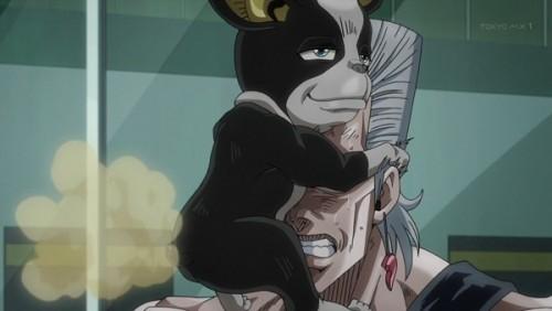 ジョジョ アニメ 第三部 第28話 ポルナレフに屁をかますイギー