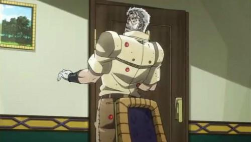 ジョジョ アニメ 第三部 第30話 椅子がひっつくジョセフ