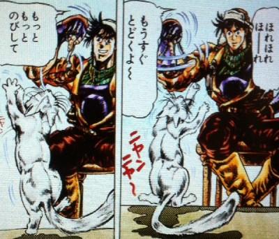 ネコをおちょくるジョセフ