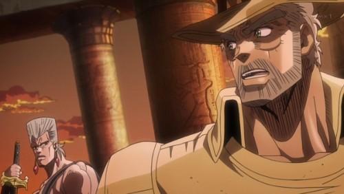 ジョジョ アニメ 第三部 第28話 ポルナレフを注意するジョセフ