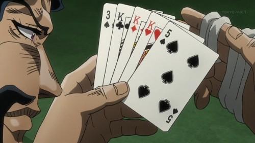 ジョジョ アニメ 第三部 第35話 「Kのスリーカード」