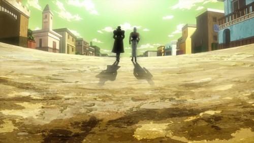 ジョジョ アニメ 第三部 第33話 立ち去っていく二人