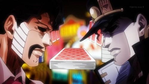 ジョジョ アニメ 第三部 第35話 ポーカー対決