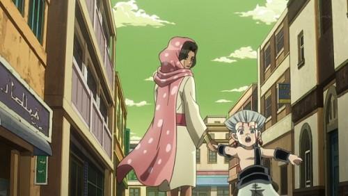 ジョジョ アニメ 第三部 第32話 お姉さんに連れて行かれるポルナレフ