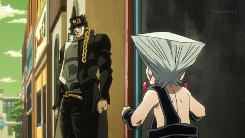 ジョジョ アニメ 第三部 第32話 承太郎とちびポルナレフ