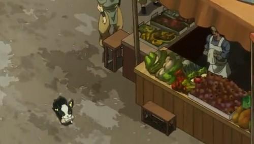 ジョジョ アニメ 第三部 第32話 ケバブサンドを盗んで逃げるイギー