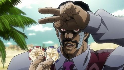 ジョジョ アニメ 第三部 第34話 コインを2個GETしたダービー