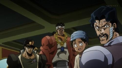 ジョジョ アニメ 第三部 第35話 心配そうに見る少年