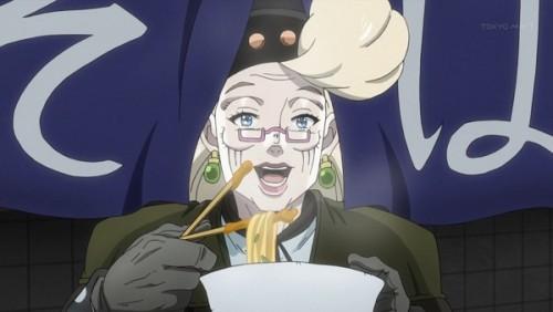 ジョジョ アニメ 第三部 第44話 カレーうどんを食べるスージーQ