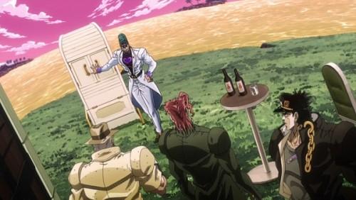 ジョジョ アニメ 第三部 第40話 スタンドの説明をするテレンス
