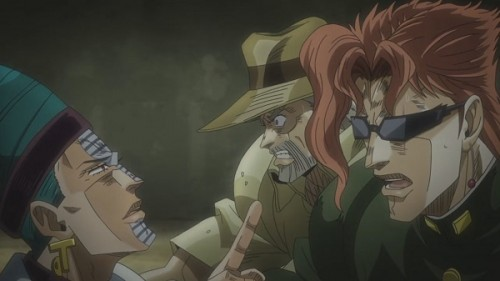 ジョジョ アニメ 第三部 第40話 ついでに引き込まれるジョセフと花京院