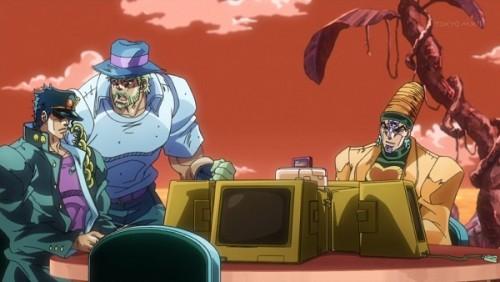 ジョジョ アニメ 第三部 第41話 承太郎を心配するジョセフ