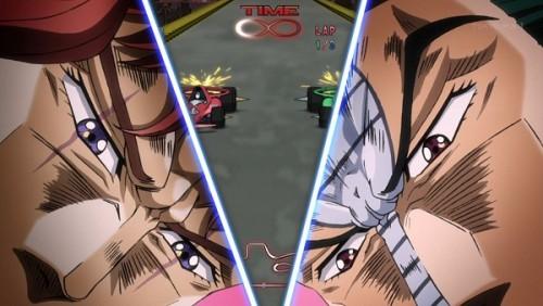 ジョジョ アニメ 第三部 第40話 マシンを立てなおしてレース続行