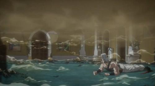 ジョジョ アニメ 第三部 第43話 砂埃で浮き上がるクリーム